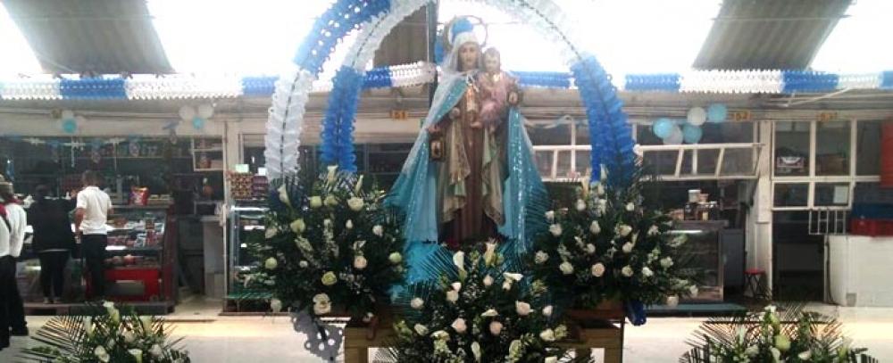 Gran celebración de la fiesta de la Virgen del Carmen en las plazas distritales de mercado