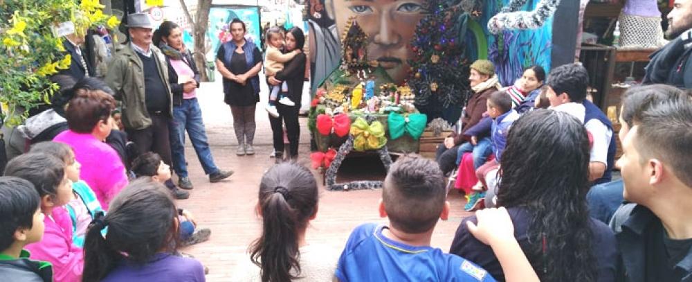 Conozca los pesebres con materiales reciclables en las Plazas Distritales de Mercado
