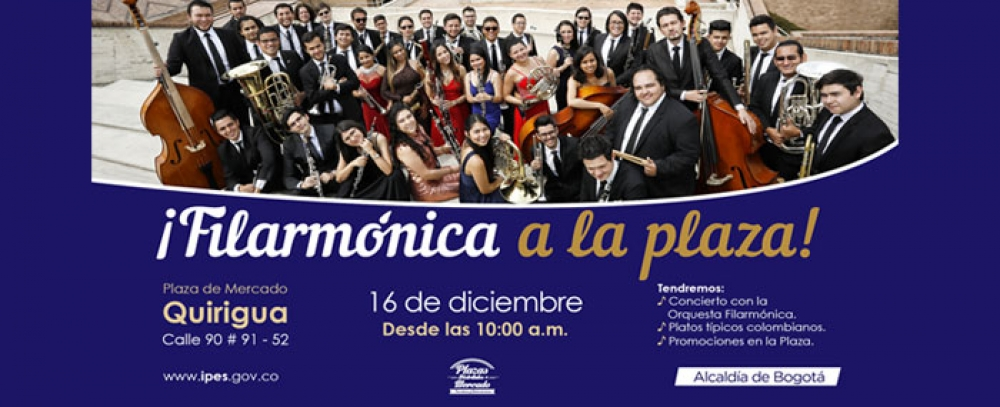 Orquesta Filarmónica engalanará con su música la Plaza Distrital de Mercado Quirigua