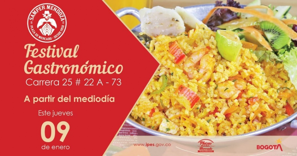 Festival Gastronómico en la Plaza Distrital Samper Mendoza