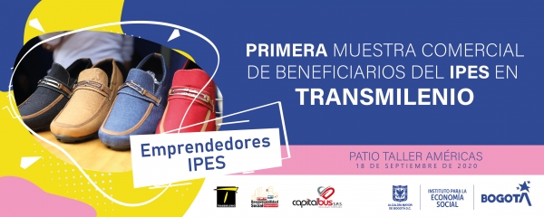 Primera muestra comercial de beneficiarios del IPES en TransMilenio