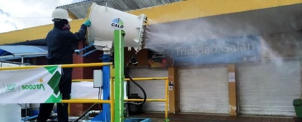 Jornadas de limpiezas y desinfección en Plazas Distritales de Mercado