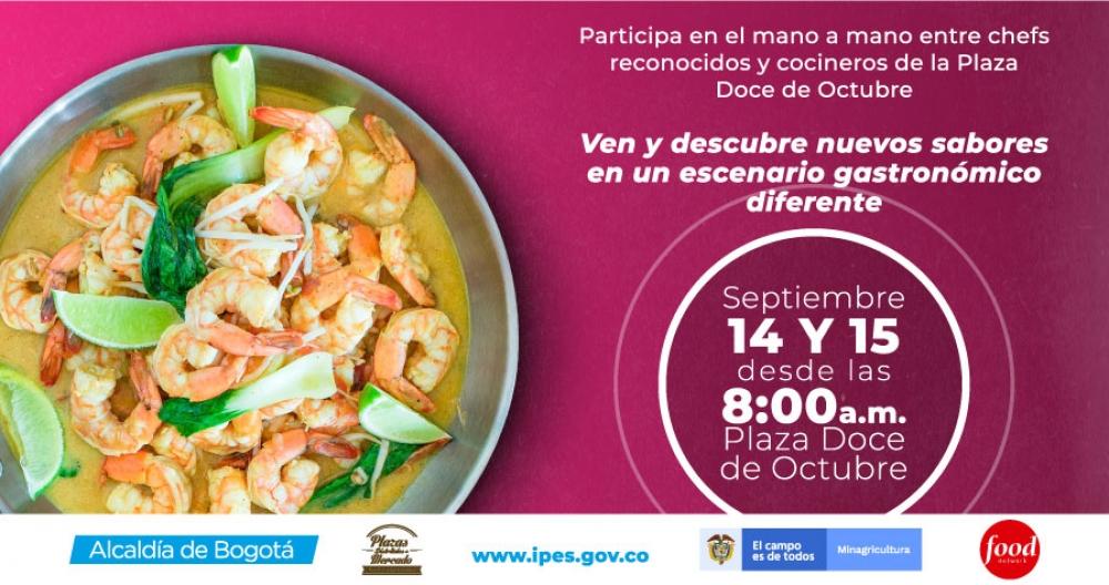 La Plaza de Mercado Doce de Octubre se viste de gala para evento gastronómico